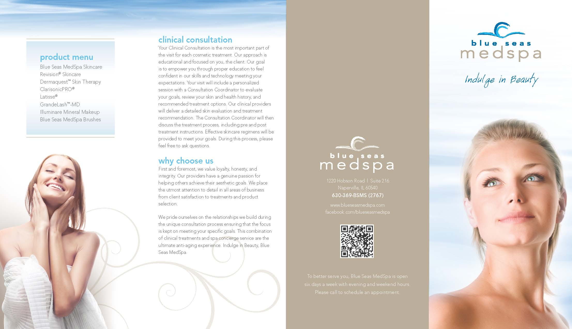 Blue Seas Med Spa brochure page 1