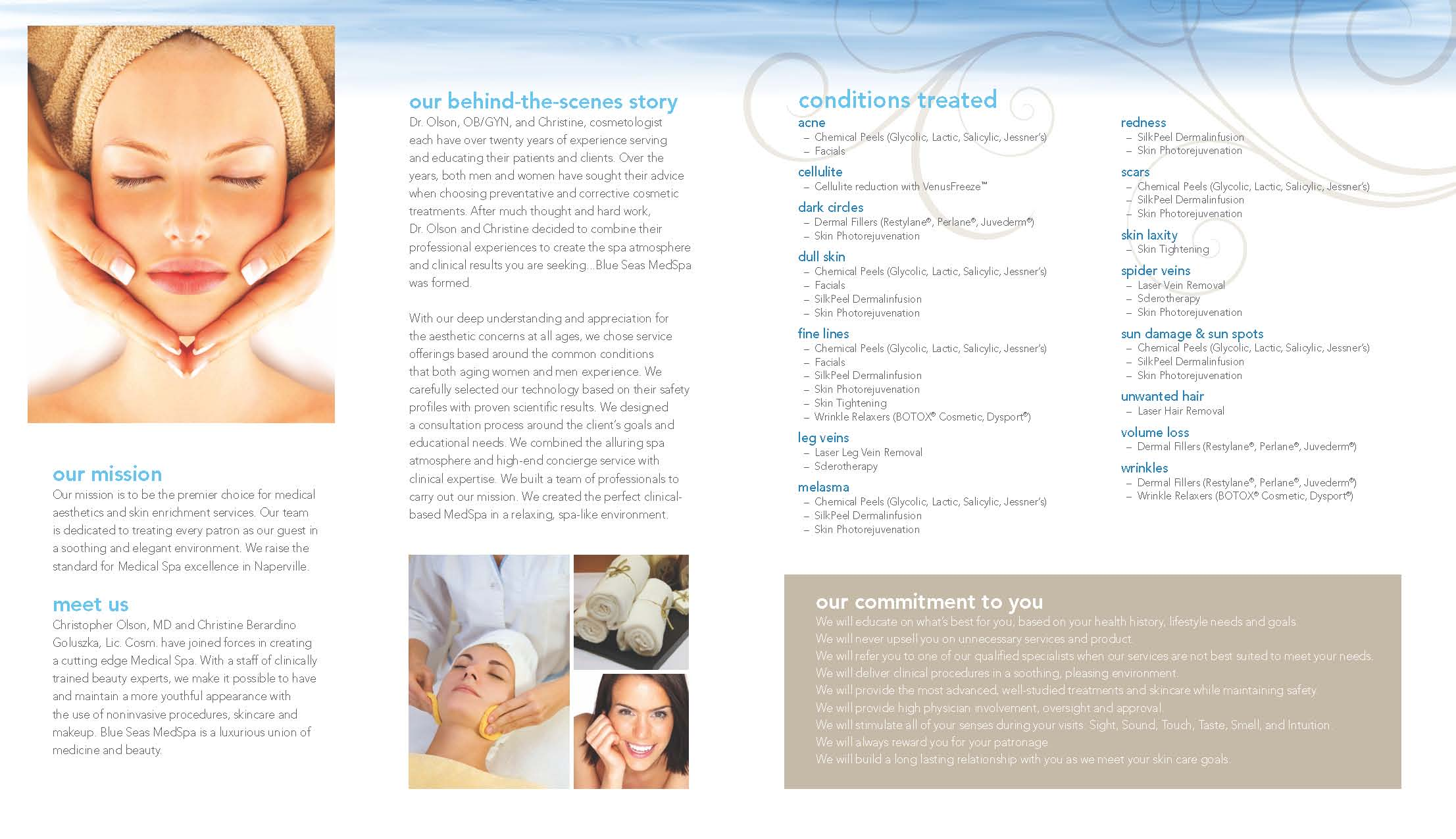 Blue Seas Med Spa brochure page 2